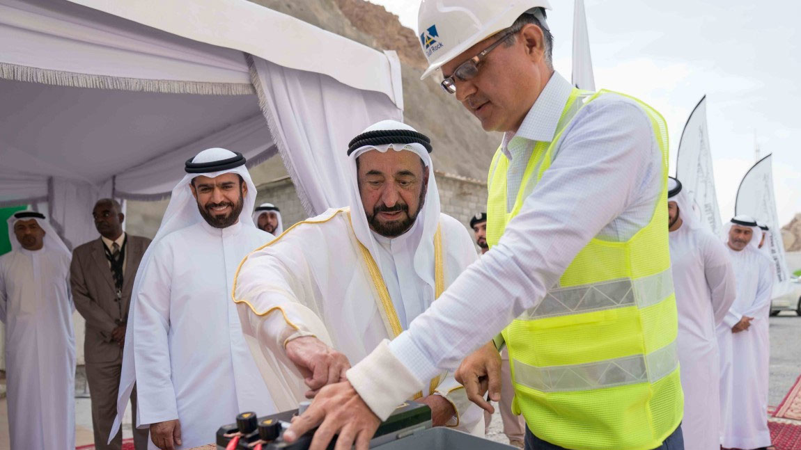 Sultan Al Qasimi opens Sharjah - Khorfakkan Road Project